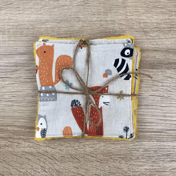lingettes cotons lavables en micro-éponge de bambou bébé