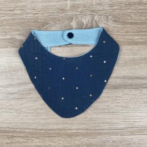 Bavoir bandana gaze de coton